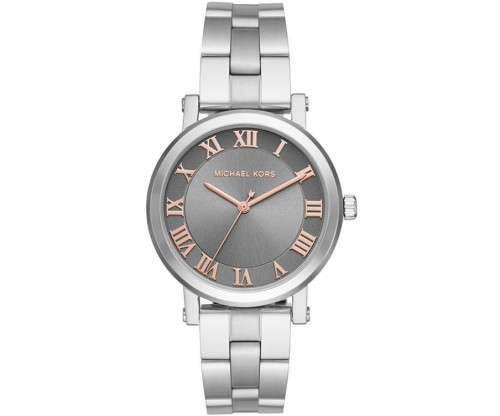 Michael KORS Norie Two Tone Silver-Grey Stainless Steel Bracelet