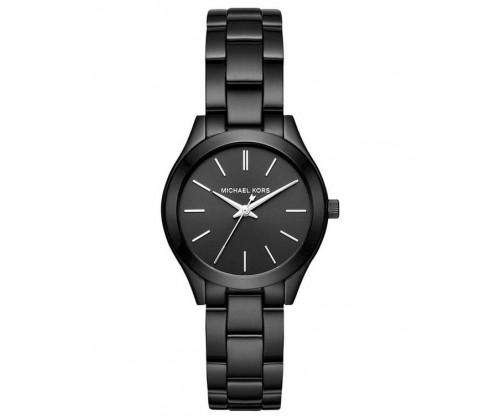 Michael KORS Mini Slim Runway Black Stainless Steel Bracelet