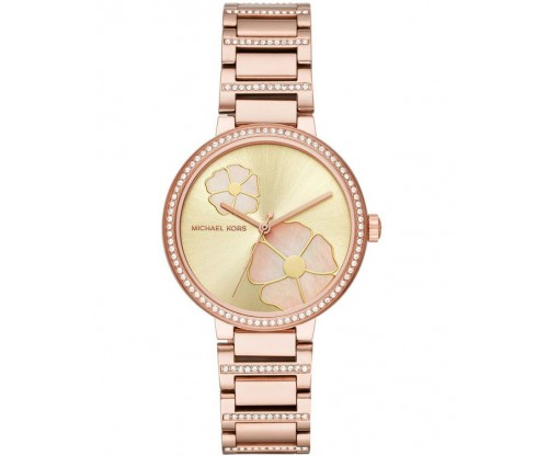 Michael KORS Courtney Rose Gold Stainless Steel Bracelet