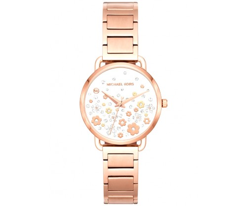 Michael KORS Portia Rose Gold Stainless Steel Bracelet