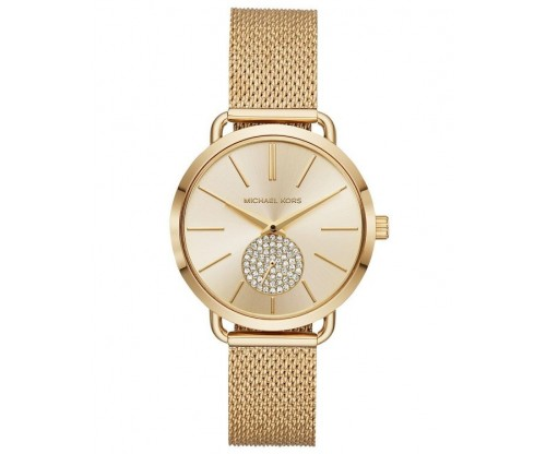 Michael KORS Portia Crystals Gold Stainless Steel Bracelet