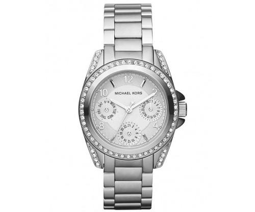 Michael KORS Mini Blair Crystals Silver Stainless Steel Bracelet