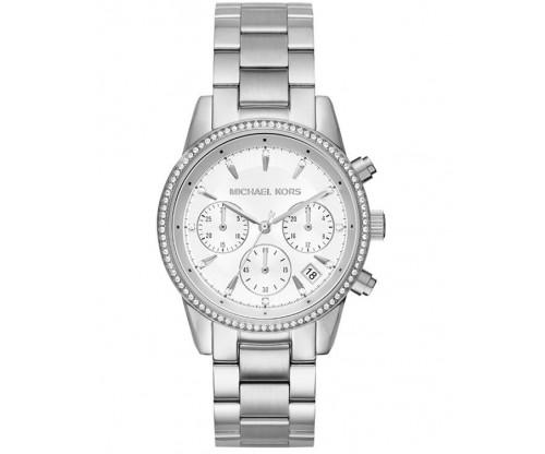 Michael KORS Ritz Chronograph Crystals Stainless Steel Bracelet