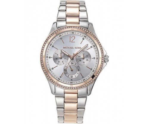 Michael KORS Riley Crystals Two Tone Stainless Steel Bracelet