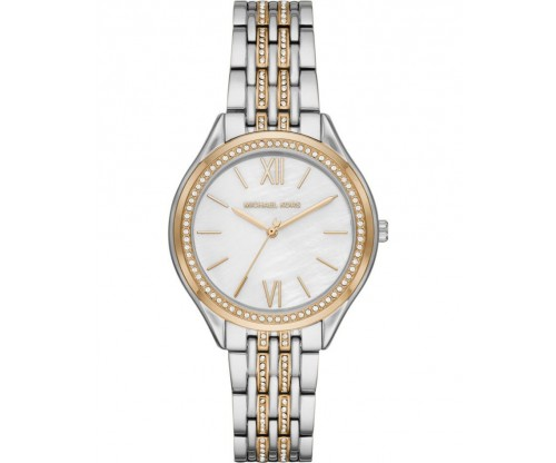 Michael KORS Mindy.. Crystals Two-Tone Stainless Steel