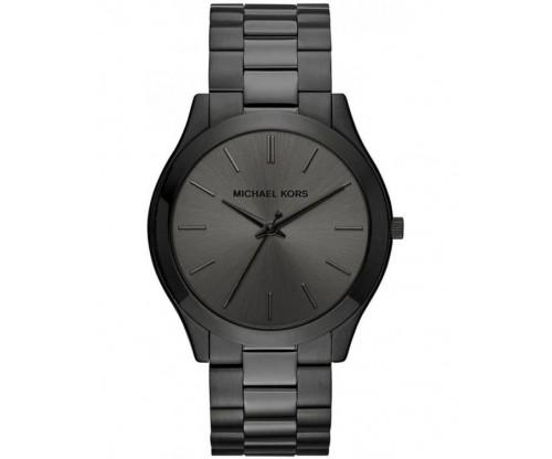 Michael KORS Slim Runway Black Stainless Steel Bracelet