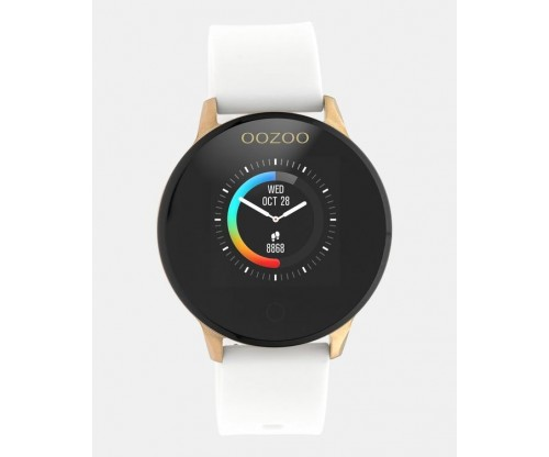 OOZOO Smartwatches rose case white rubber strap