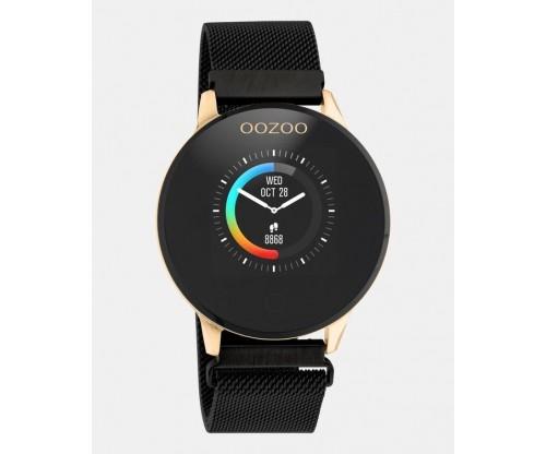 OOZOO Smartwatches rose case black metal mesh  bracelet