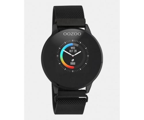 OOZOO Smartwatches black case black metal mesh  bracelet