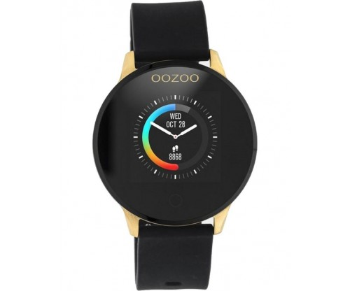 OOZOO Timepieces Smartwatch Black Rubber Strap
