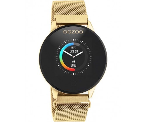 OOZOO Timepieces Smartwatch Gold Stainless Steel Bracelet