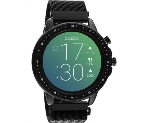 OOZOO Timepieces Smartwatch Black Stainless Steel Bracelet