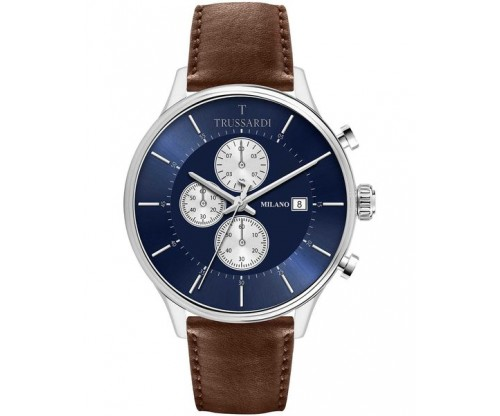 TRUSSARDI T-Complicity Chronograph Brown Leather Strap