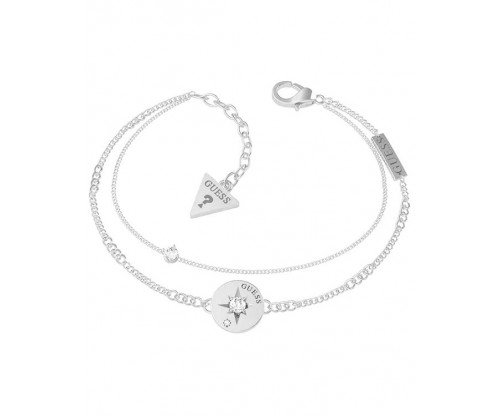 GUESS Wanderlust Bracelet, Stainless Steel, Silver-tone plated