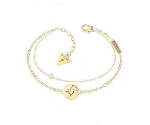 GUESS Wanderlust Bracelet, Stainless Steel, Gold-tone plated