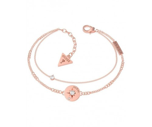 GUESS Wanderlust Bracelet, Stainless Steel, Rose gold-tone plated