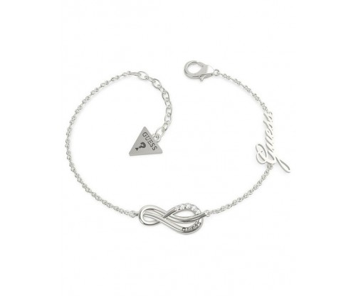 GUESS Eternal Love Bracelet, Stainless Steel, Silver-tone plated