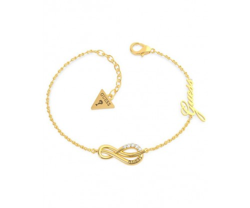 GUESS Eternal Love Bracelet, Stainless Steel, Gold-tone plated