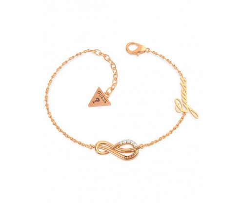 GUESS Eternal Love Bracelet, Stainless Steel, Rose gold-tone plated