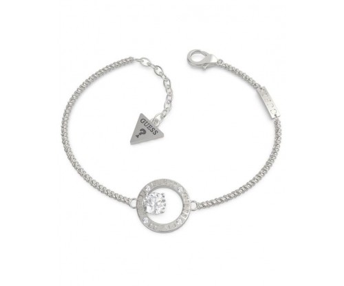 GUESS All Around You Bracelet, Stainless Steel, Silver-tone plated