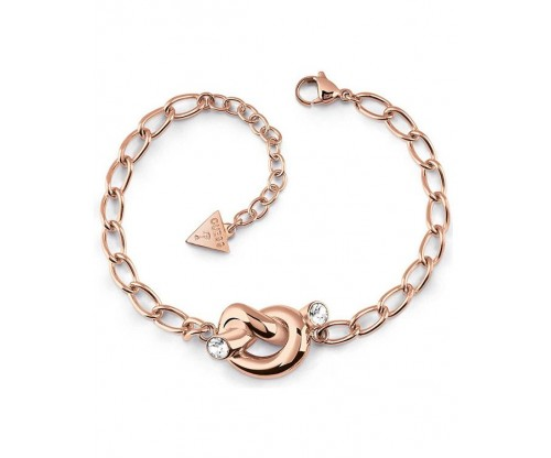 GUESS Knot, Bracelet, Stainless Steel, Rose Gold-tone plated