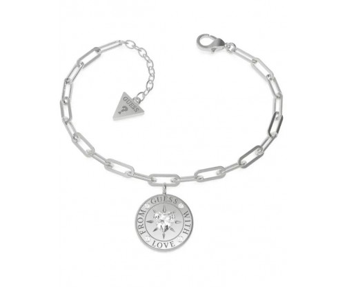 GUESS From GUESS With Love Bracelet, Stainless Steel, Silver-tone plated