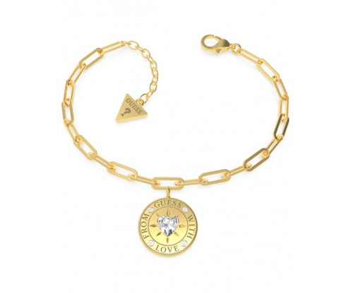GUESS From GUESS With Love Bracelet, Stainless Steel, Gold-tone plated