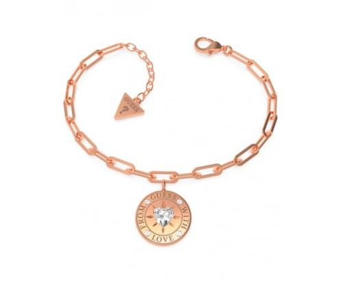 GUESS From GUESS With Love Bracelet, Stainless Steel, Rose gold-tone plated