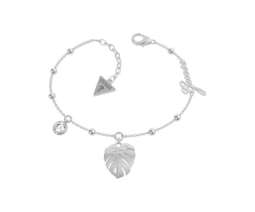 GUESS Tropical Summer Bracelet, Stainless Steel, Silver-tone plated