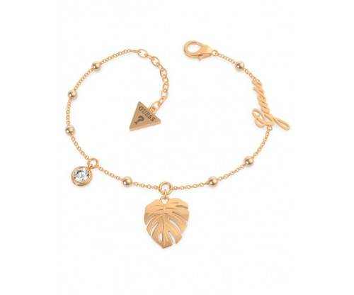 GUESS Tropical Summer Bracelet, Stainless Steel, Rose gold-tone plated