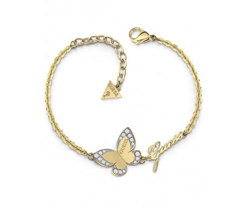 GUESS Love Butterfly, Bracelet, Stainless Steel, Gold-tone plated