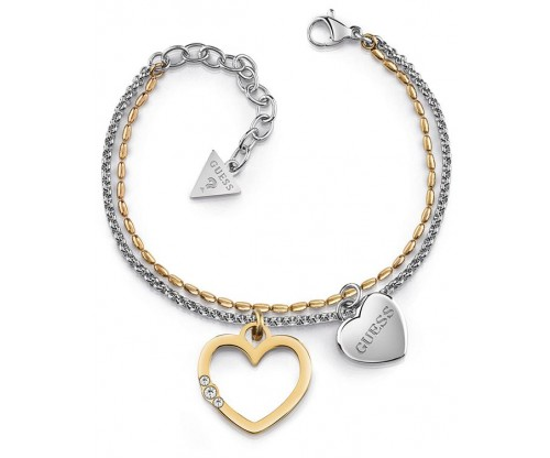 GUESS Unchain My Heart, Bracelet, Stainless Steel, Silver and Gold-tone plated