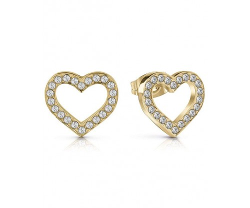 GUESS Shine On Me, Earrings, Stainless Steel, Gold-tone plated