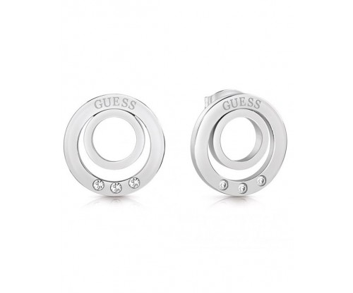 GUESS Eternal Circles, Earrings, Stainless Steel, Silver-tone plated