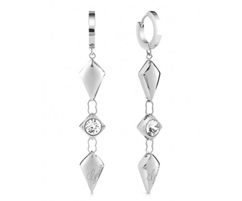 GUESS, Earrings, Stainless Steel, Silver -tone plated