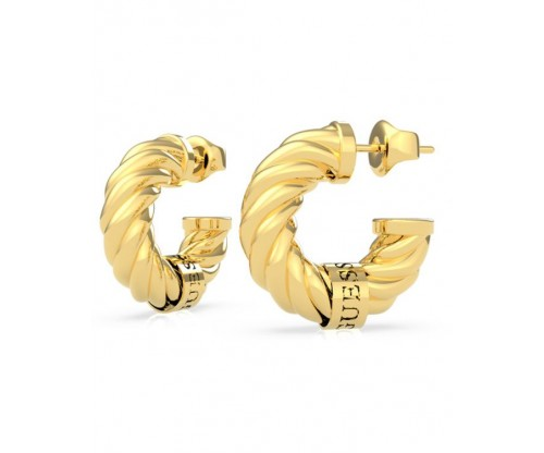 GUESS Lets Get Loud, Earrings, Stainless Steel, Gold-tone plated