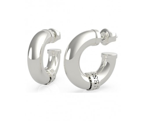 GUESS Lets Get Loud, Earrings, Stainless Steel, Silver-tone plated