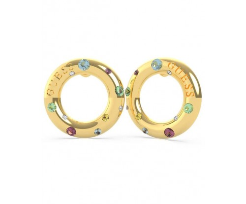 GUESS Fun Tonight, Earrings, Stainless Steel, Gold-tone plated