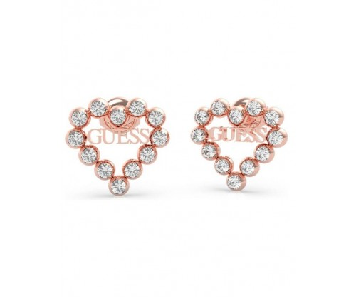 GUESS Heart Romance, Earrings, Stainless Steel, Rose gold-tone plated