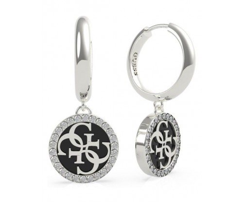 GUESS Golden Hour, Earrings, Stainless Steel, Silver-tone plated