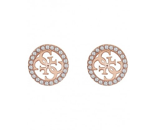 GUESS Tropical Sun, Earrings, Stainless Steel, Rose Gold-tone plated