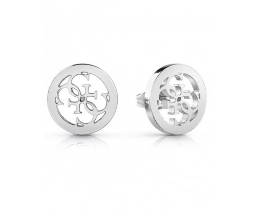 GUESS Tropical Sun, Earrings, Stainless Steel, Silver-tone plated