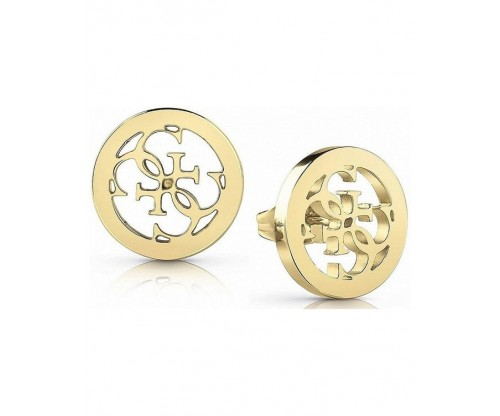 GUESS Tropical Sun, Earrings, Stainless Steel, Gold-tone plated