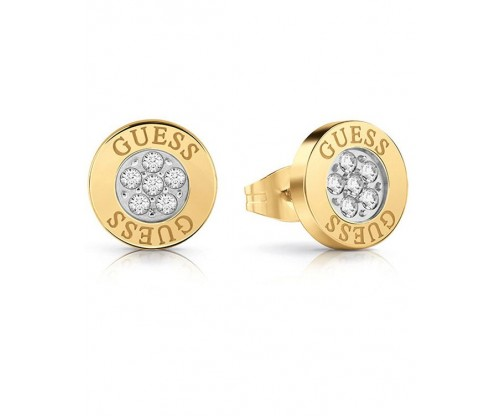 GUESS Love Knot, Earrings, Stainless Steel, Gold-tone plated