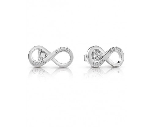 GUESS Endless Love, Earrings, Stainless Steel, Silver-tone plated