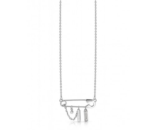 GUESS Rock Star, Necklace, Stainless Steel, Silver-tone plated