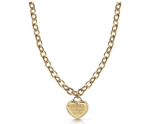 GUESS Follow My Charm, Necklace, Stainless Steel, Gold-tone plated