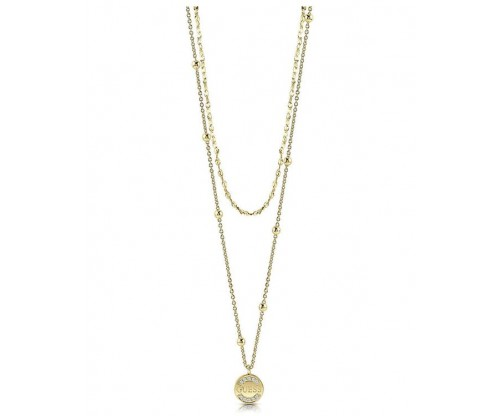 GUESS Necklace, Stainless Steel, Gold-tone plated