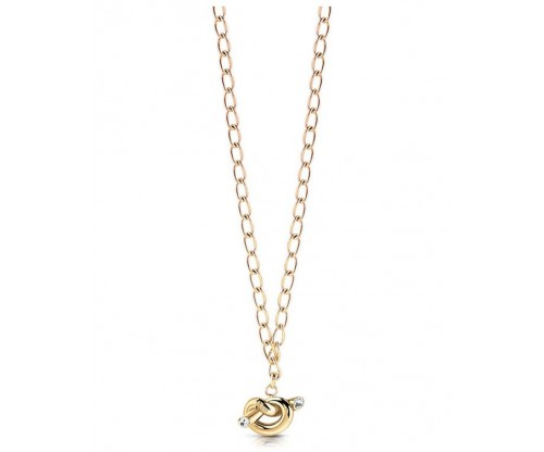 GUESS Knot, Necklace, Stainless Steel, Gold-tone plated