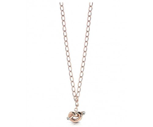 GUESS Knot, Necklace, Stainless Steel, Rose Gold-tone plated
